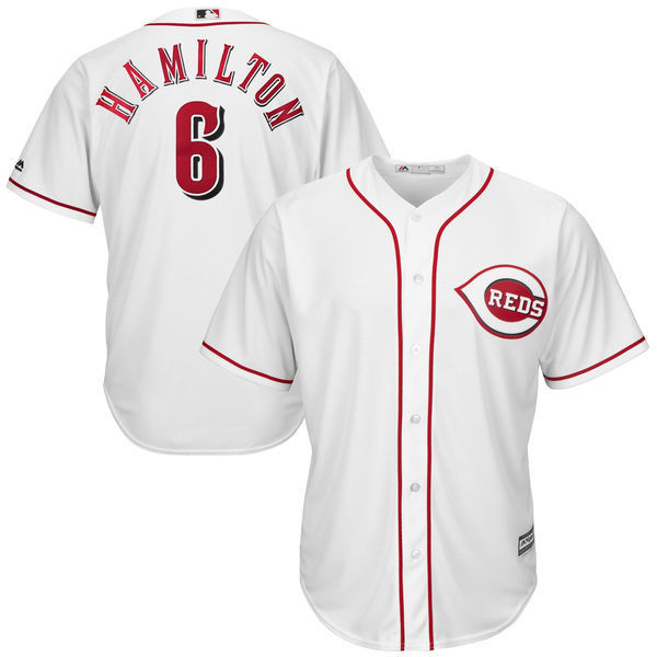 MLB Youth Cincinnati Reds Billy Hamilton Baseball White Home Cool Base Player Jersey