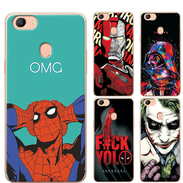 premium selection b954a e8ba6 US $1.15 21% OFF|Charming Painted Case Cover For OPPO F5 Marvel Avengers  Soft TPU Phone Case Fundas For OPPO A79 Covers For OPPO A73 A73T 6.0