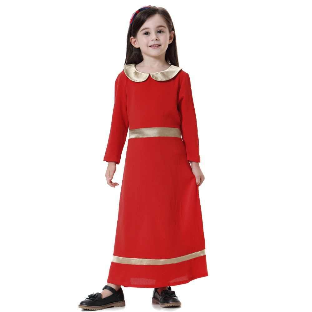 cd6f24efa8d ... Muslim Children Abaya Girl Maxi Dress Kids Long Dresses Robe Gowns  Kimono Cute Jubah Ramadan Middle