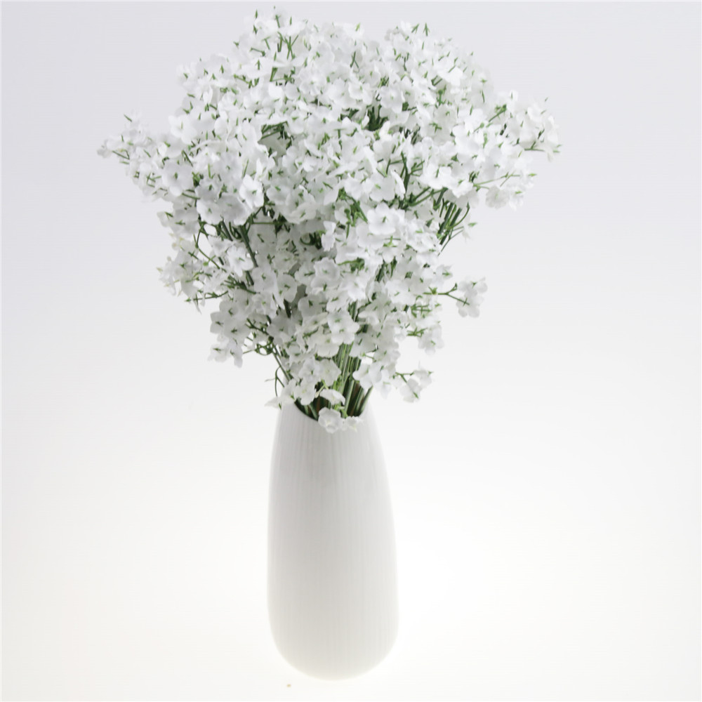 White Fake Silk Artificial Gypsophila Flowers Bouquet Wedding Party
