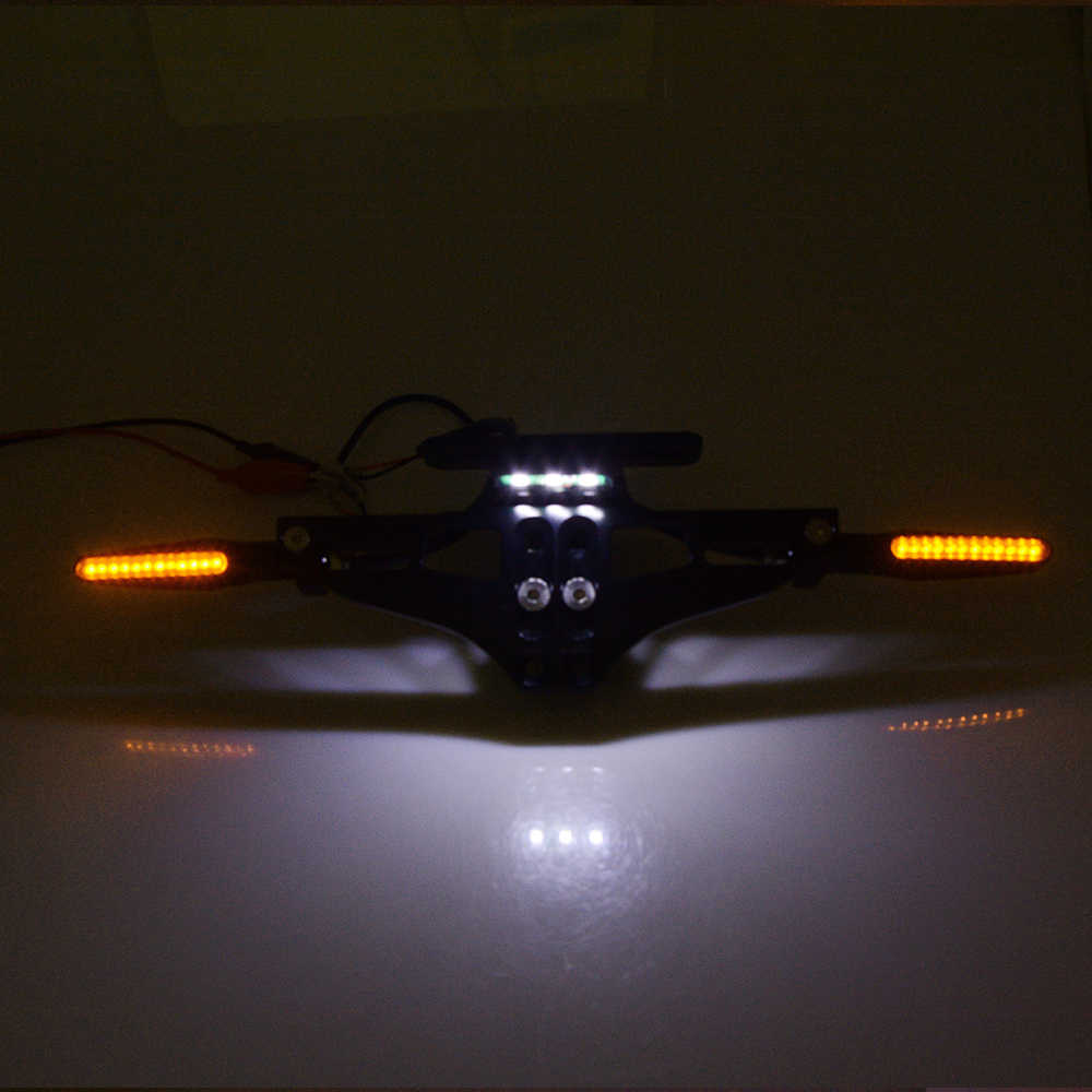 אופנוע לוחית רישוי סוגר בעל לוחית רישוי הפעל אור עבור ימאהה Tmax 500 530 XJR 400 1300 KTM דוכס 390 125 200 Z1000
