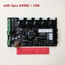 4 couches PCB carte contrôleur MKS Gen V1.4 intégré carte mère compatible Ramps1.4/Mega2560 R3 soutien a4988/DRV8825/TMC2100