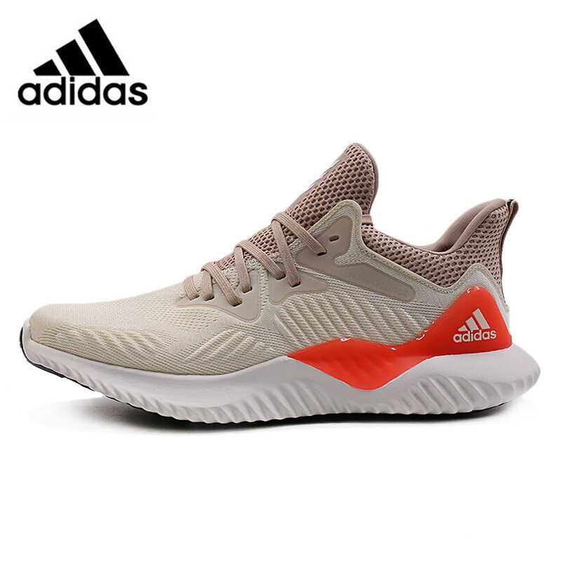 95f1a422d Official Adidas Alphabounce Beyond Men s Running Shoes Beige Green Abrasion  Resistant Non-Slip Breathable Support