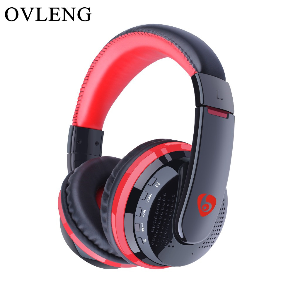 OVLENG MX666 Earphone Wireless Headphones Bluetooth 4.0 Headset with Mic over Ear Handsfree Headband Support FM TF For Phone MP3 ovleng wireless bluetooth 4 0 headphones foldbale stereo headset with microphone ovleng v8 3 for phone handfree calls music