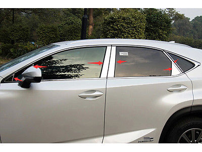 For <font><b>LEXUS</b></font> <font><b>NX200T</b></font> NX300H <font><b>2015</b></font> Shiny Stainless Steel Window Pillar Posts trim 14pcs car <font><b>accessories</b></font> image