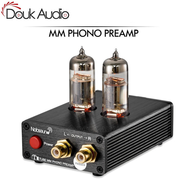 HiFi Vacuum 6J5 Tube MM Phono Preamp Stereo Mini Turntable Phonograph Preamplifier For Vinyl Record Player