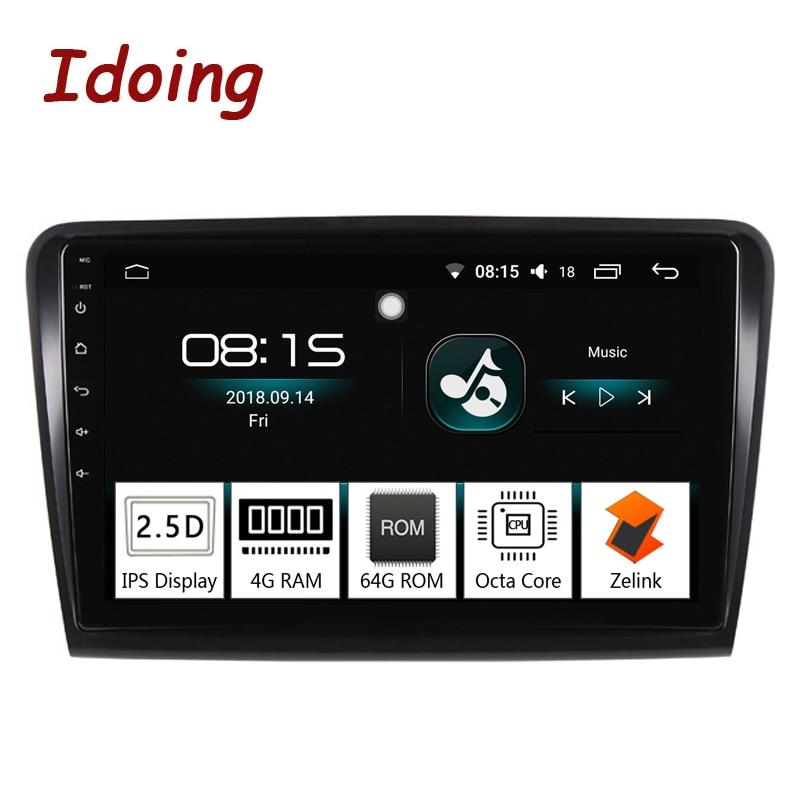 Idoing 10.21Din Car Android 8.0 Radio Multimedia Player 2.5D IPS 4G+64G Octa Core Fit Skoda Superb 2008 2014 GPS Navigation