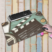Laumans90X40CM clapperboard movie spotlight Extra Large Gaming Mousepad Natural Rubber Gaming Speed Mouse Mat with Lock Edge(China)
