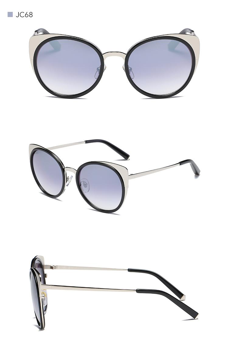 4d7a699514 DONNA Ladies Sunglasses 2017 Women Cat Eye Oversized Plastic Black ...