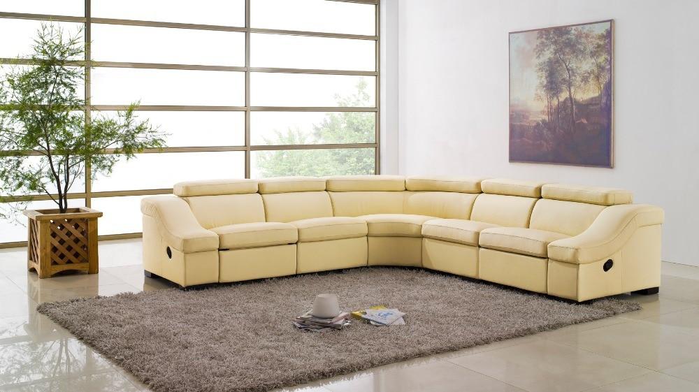 ko ægte læder sofa stue hjemmemøbler sofa sofaer stue sofa sektion - Møbel - Foto 4