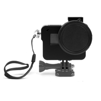 Aluminum Alloy Protective Case for GoPro Hero 6 Black Action Camera with UV Filter Mount Frame for Go Pro 6 Accessory