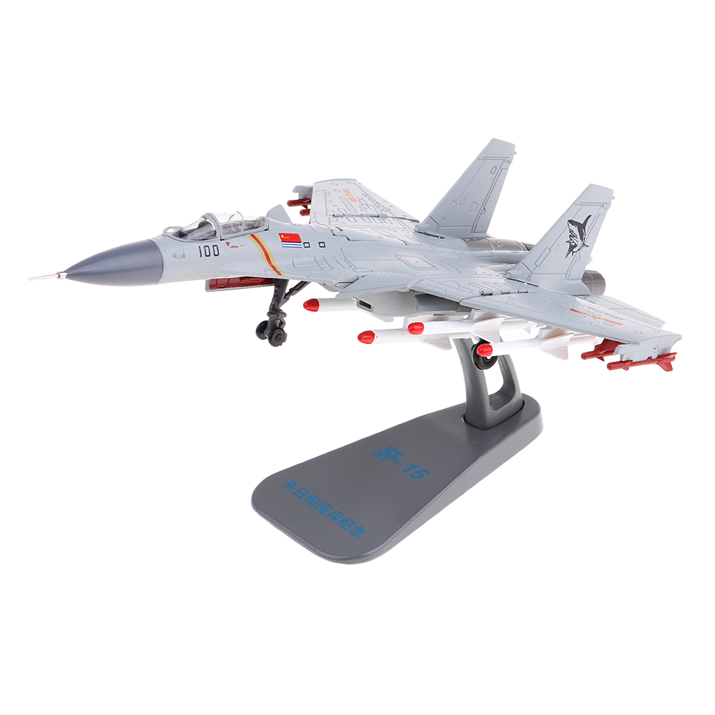 1:100 Alloy Chinese Navy J-15 Carrier Aircraft Model Airplane Fighter Toy Model Diecast Plane Model Toy Home Decoration Gift