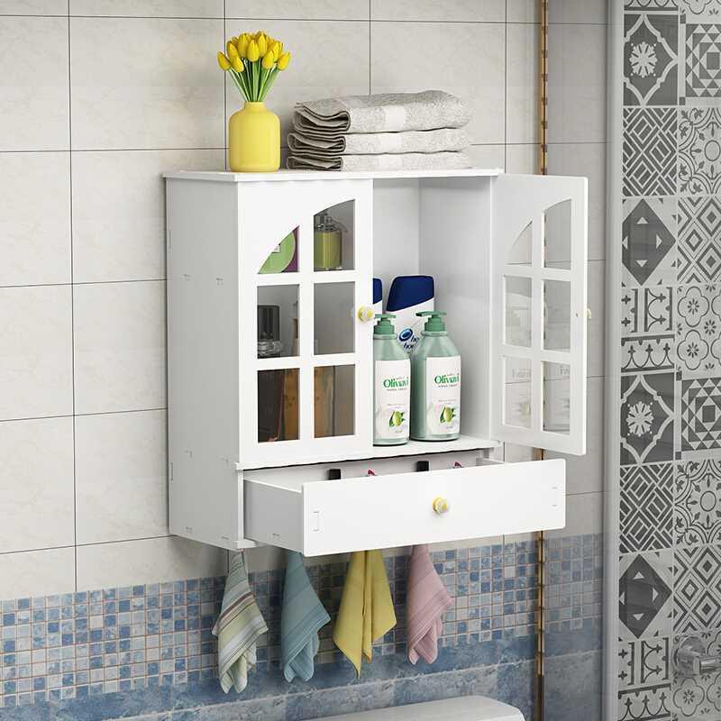 Armoire de salle de bain étagère tenture murale type lavabo toilette tenture murale étagère de bureau bon rack LO515321