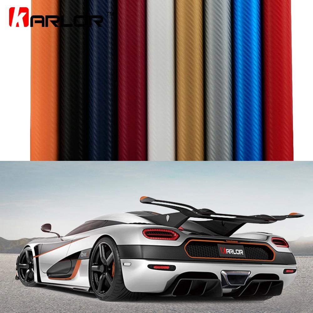 2 m/5 m/10 m/20 m X 1.52 m 3D En Fiber De Carbone Vinyle Film 3 m Étanche DIY Wrap Automobiles Moto De Voiture Styling Decal Bulle D'air Libre