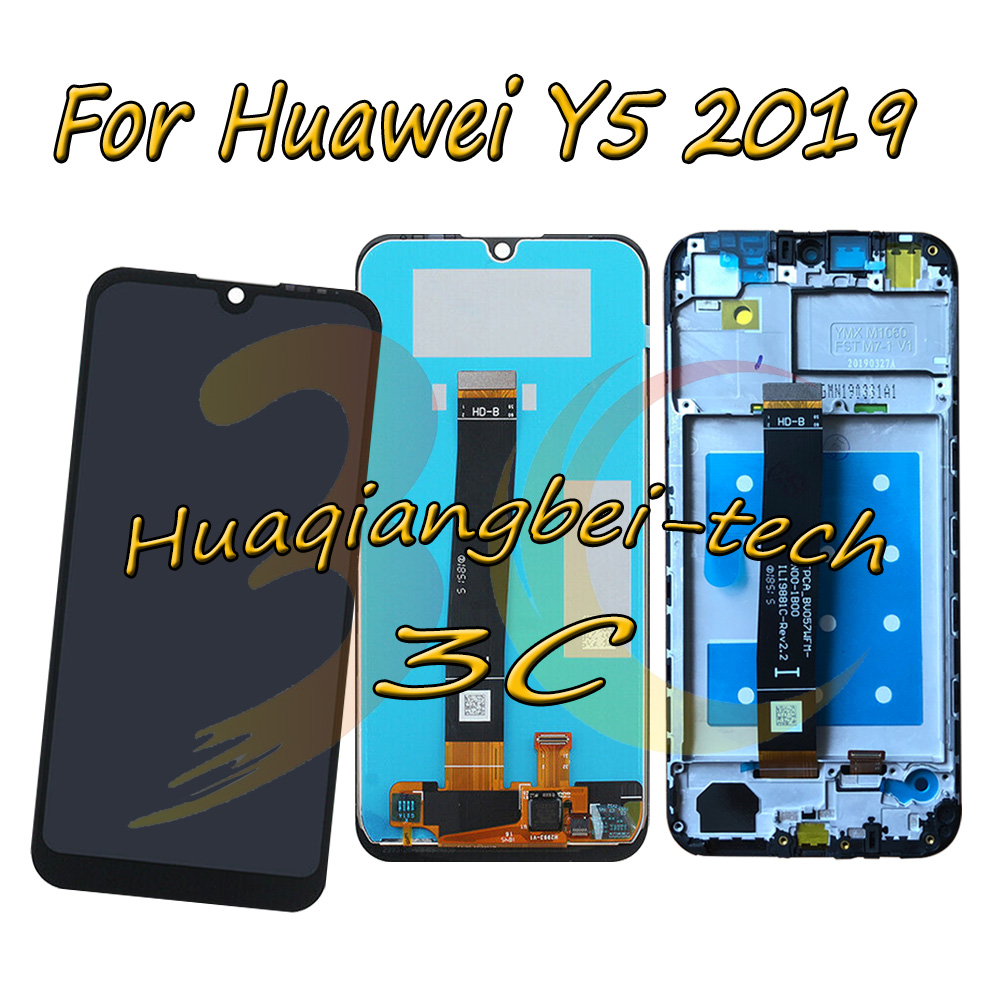 5.71'' New For Huawei Y5 2019 AMN-LX1 AMN-LX2 AMN-LX3 Full LCD DIsplay + Touch Screen Digitizer Assembly With Frame 100% Tested