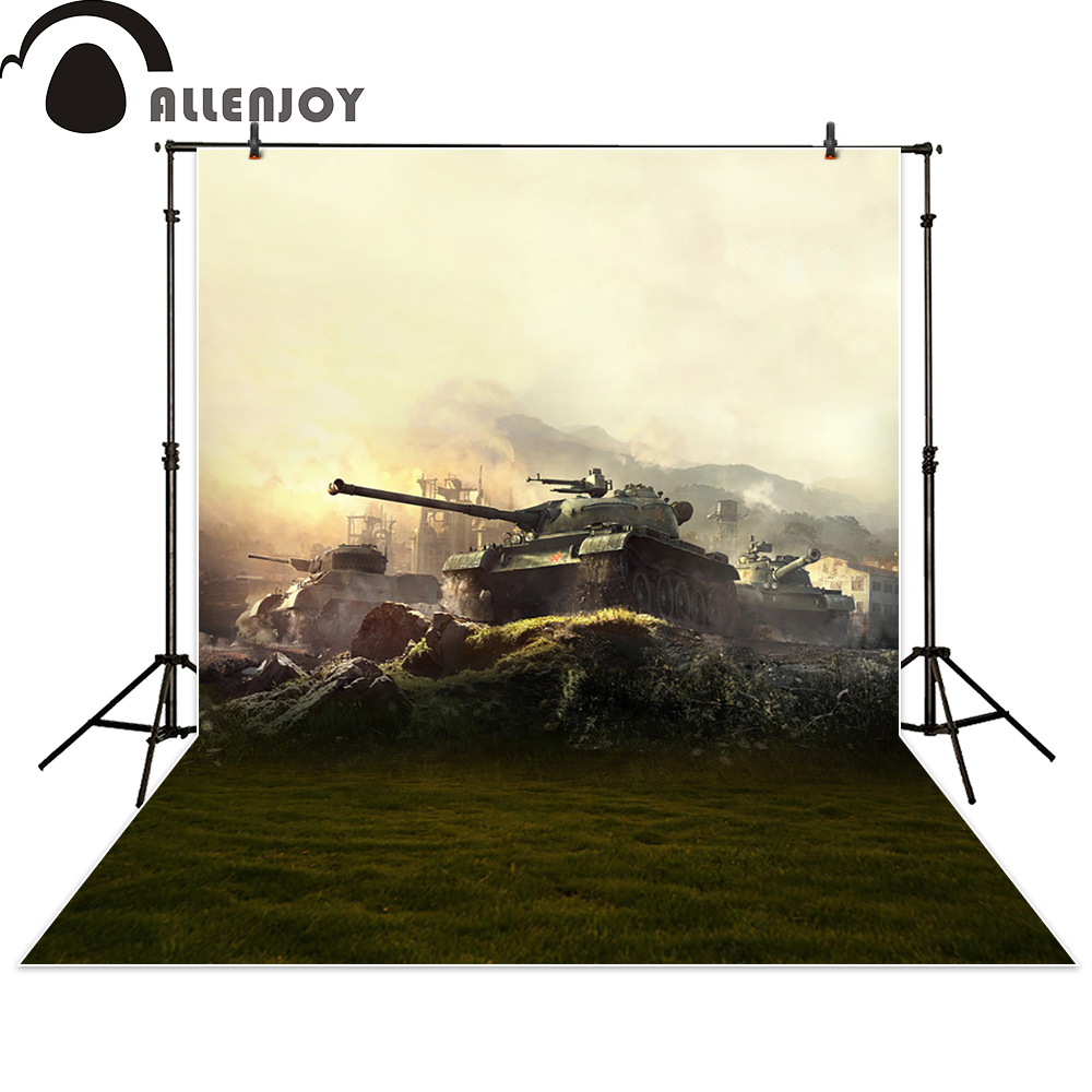 Allenjoy background photography tank grass star sky war backdrop photo studio fantasy photocall photographic