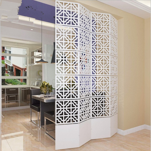 Folding Screen Room Divider Decorative Rooms Parion Shield Blinds Decoration Hanging Curtain