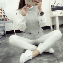 Women's Warm Casual Knit Sweaters O Neck Pullovers Female Vest 2017 New Fall Winter Ladies Tank Top Woman Sleeveless Sweater
