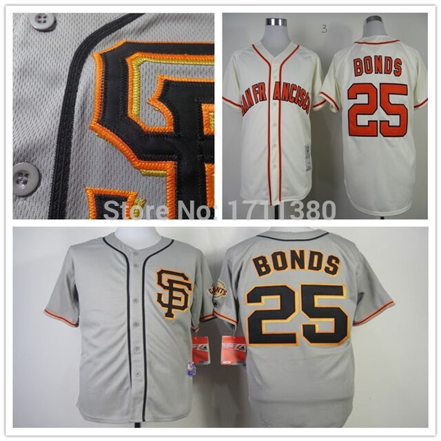 huge discount f03b2 e2e87 25 Barry Bonds jersey Stitched San Francisco Giants jersey ...