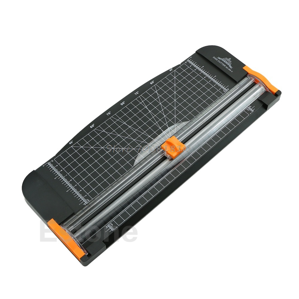 For Jielisi 909-5 A4 Guillotine Ruler Paper Cutter Trimmer Cutter Black-Orange #K400Y# DropShip visad scissors portable paper trimmer paper cutting machine manual paper cutter for a4 photo with side ruler
