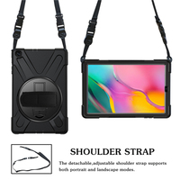 galaxy tab Case For Samsung Galaxy Tab A 10.1 inch 2019 SM-T510 T515 Rugged Hybrid Stand Cover Handle Rotate Shoulder Strap Shockproof Kids (2)