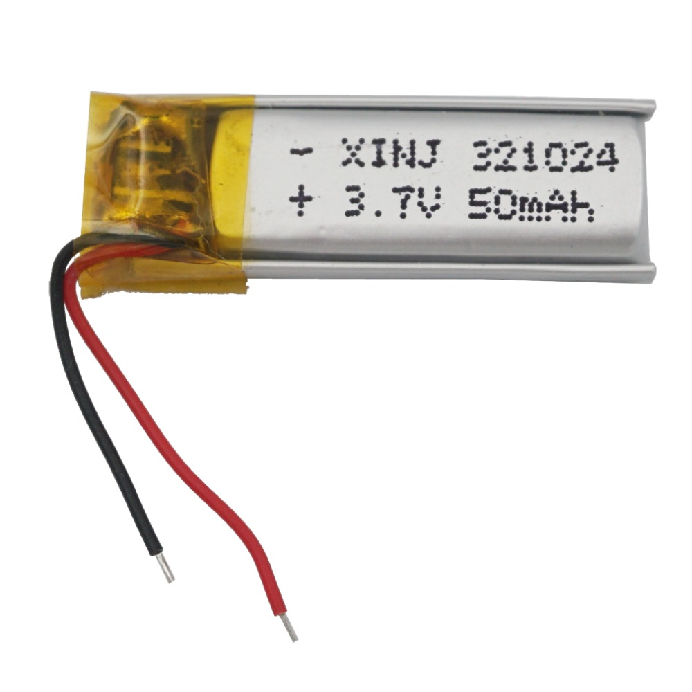 XINJ <font><b>3.7V</b></font> <font><b>50mAh</b></font> Lithium Polymer <font><b>Battery</b></font> Li ion li-po cell 321024 For headphones bluetooth glasses Record pen speaker smart watch image