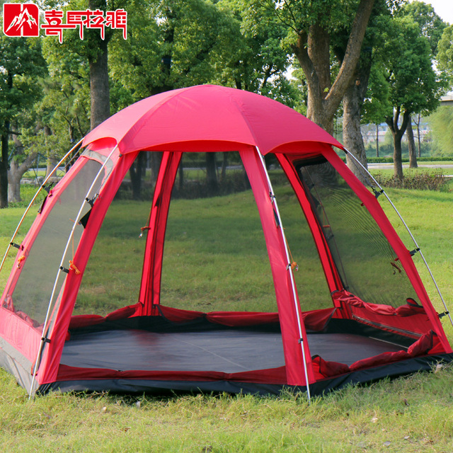HIMALAYA C&ing Family Tent Multiplayer Hexagonal Aluminum Pole Double-deck Outdoor Waterproof for C&ing Hiking & HIMALAYA Camping Family Tent Multiplayer Hexagonal Aluminum Pole ...