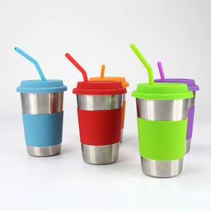 Image 4 - 6Pcs Reusable Silicone Drinking Straws Set, Long Flexible Straws with Cleaning Brushes for 20 oz Tumbler Bar Party Straws