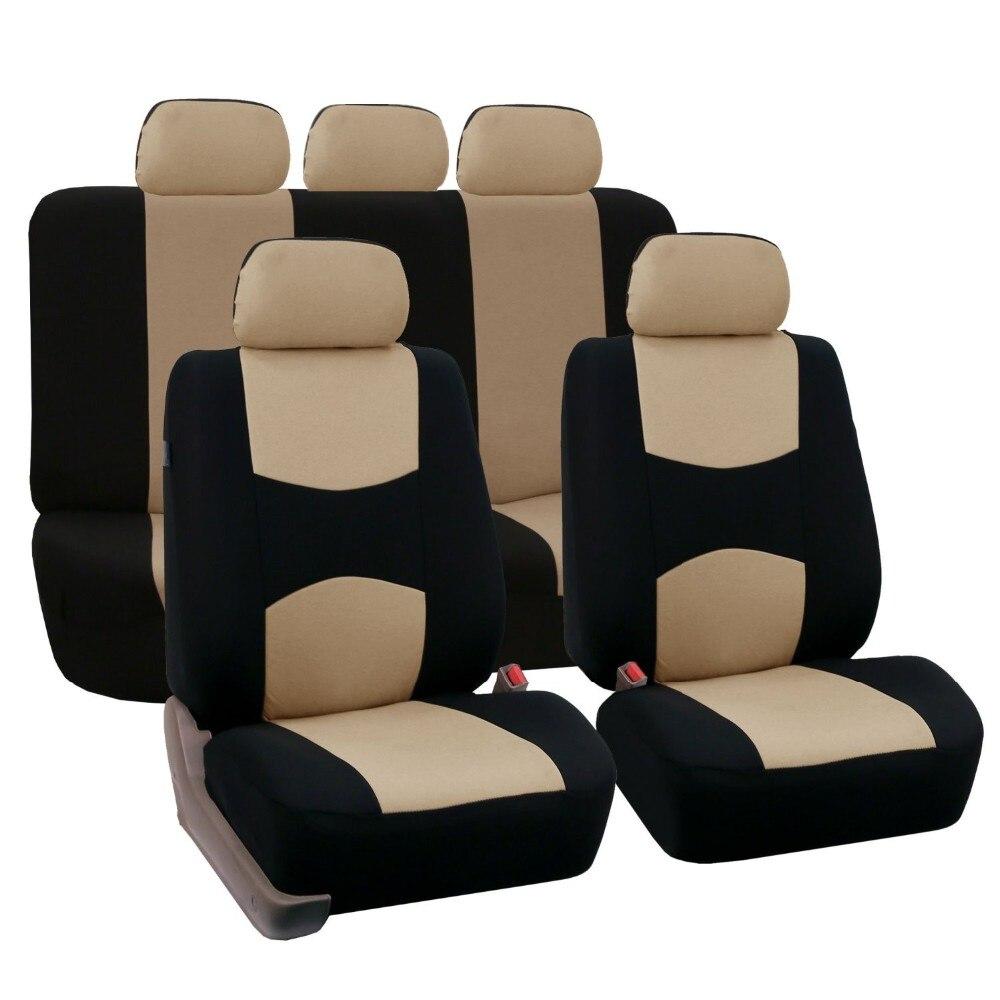 Full Set Autositzbezüge Universal Fit Autositz Schutzfolien Qualität Selbstauto-innen Zubehör Beige Für Lada Largus
