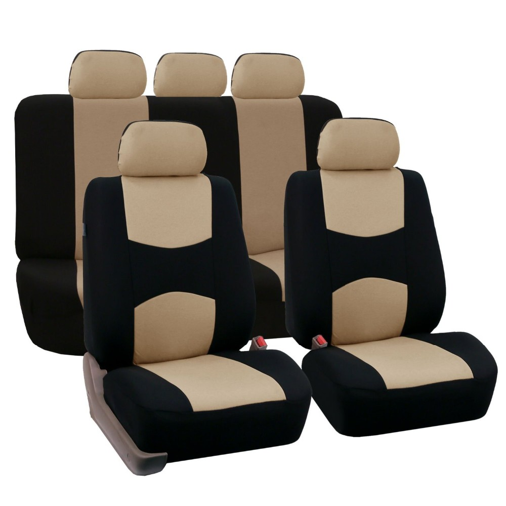 Full Set Car Seat Covers Universal Fit Protectors High Quality Auto Interior Accessories Decoration Beige Black Whole Decorative