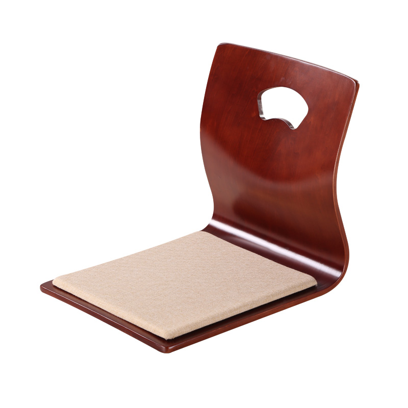 (4pcs/lot) Kotatsu Zaisu Chair Brown Finish Floor Furniture Asian Living Room Tatami Japanese Zaisu Legless Chair Wholesale