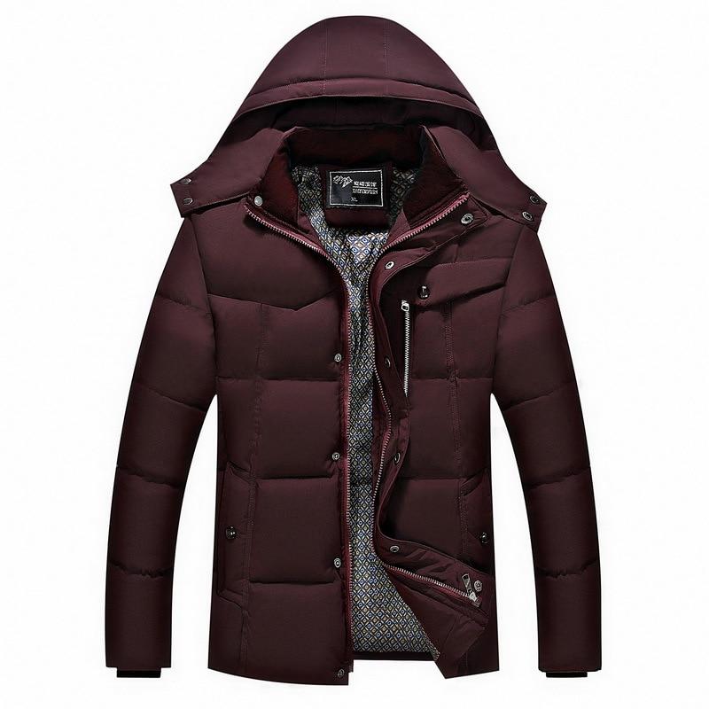 ФОТО Brand 2016 Winter Men Cotton Coat Warm Men Clothing Black Long Sleeve Men Pocket Slim Parka Men Jacket