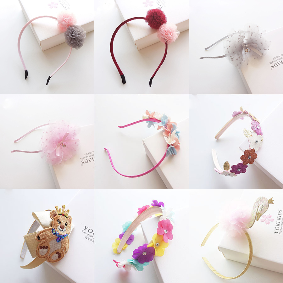 New Lovely Princess Hairbands hair ornaments Handmade Ribbon flowers hair band hoop Lace Retro Cartoon Hair accessories for girl metting joura vintage bohemian ethnic tribal flower print stone handmade elastic headband hair band design hair accessories