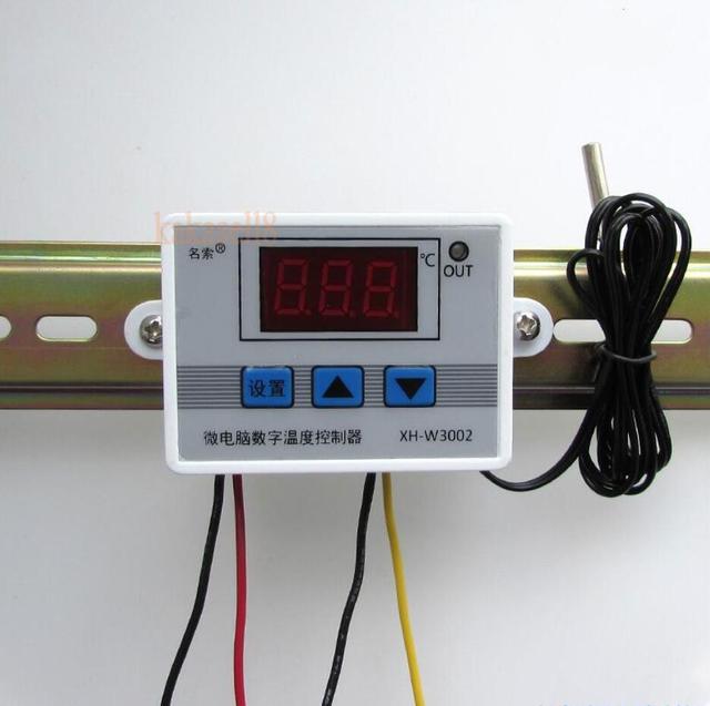 W3002 220 V 12 V 24 V デジタル温度コントローラ 10A サーモスタット制御スイッチプローブ防水センサーサーモスタット