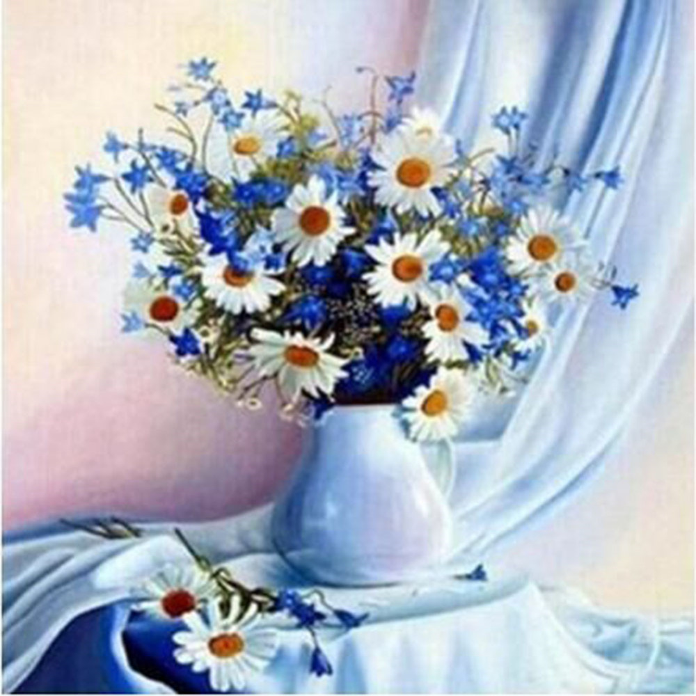 Newest 5d Beautiful Flowers Diamond Embroidery Diy Diamond Pretty