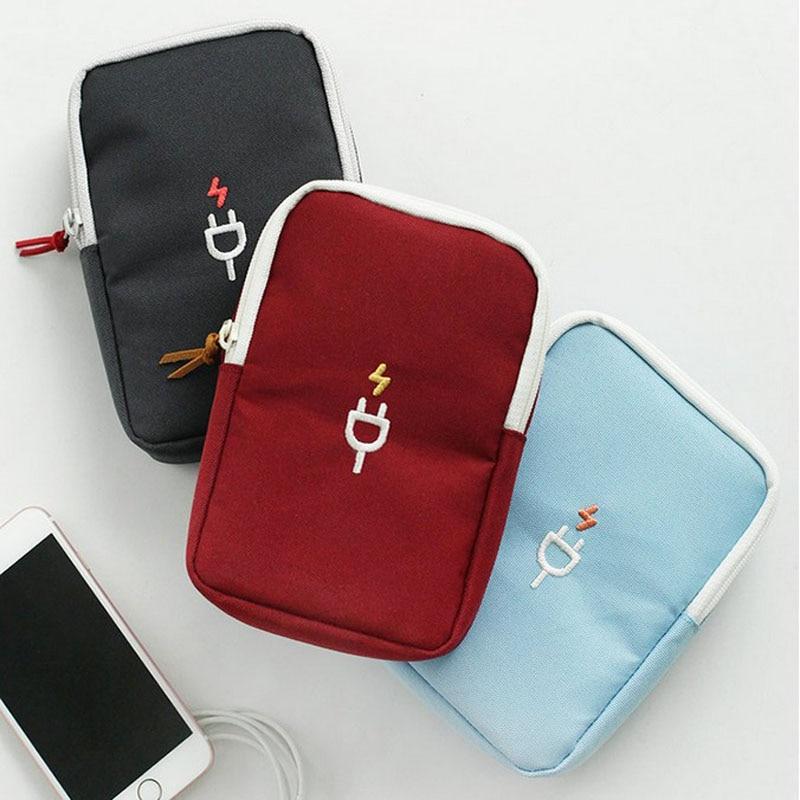 Mini Bag USB Data Cable Holder Earphone Wire Digital Storage Bag Pouch Case