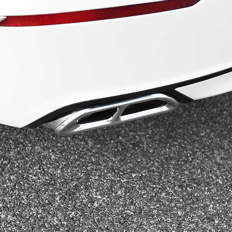 Honda Accord için 10th 2018 paslanmaz çelik araba kuyruk boğaz dekorasyon çerçeve otomatik egzoz borusu Trim kapaklar astar aksesuarları