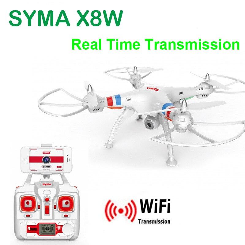 Originales SYMA X8W FPV RC Drone con cámara HD Wifi 2.4 G 4CH 6-Axis RC helicóptero Quadcopter Ar