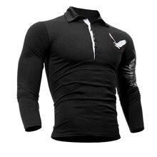 QINGYU T Shirt Men 2017 Brand Male Long Sleeve Hip Hop Solid Eagle Printing T-Shirts Mens Casual Mens Slim T-shirt Slim Tops