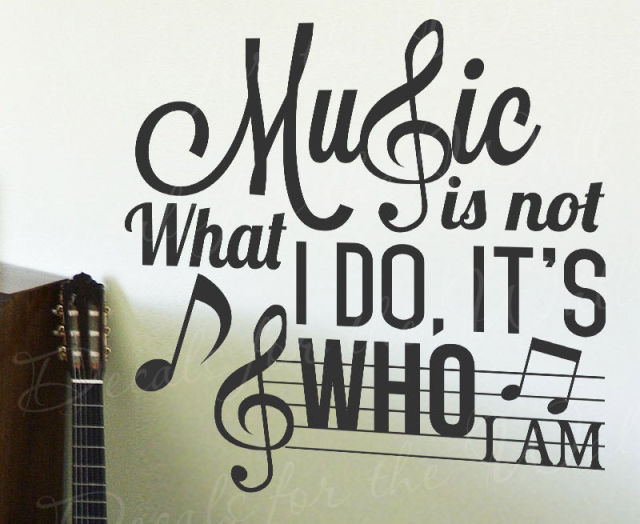 Music Is Not What I Do Its Who Am Inspirational Sticker
