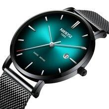 44273619d4dc NIBOSI reloj de los hombres de moda Simple suiza marca reloj de cuarzo de  lujo creativo impermeable fecha casuales de los hombre.