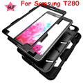 Heavy Duty case For Samsung Galaxy Tab A 7.0 T280 t285 Tablet case Gelifen Series Soft Silicone +PC Back Cover Kickstand Case