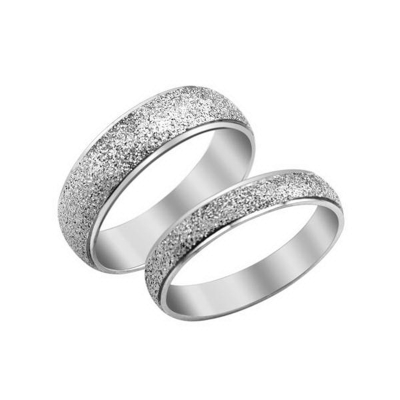 1 piece stainless steel dull cheap engagement rings set his and her anniversary giftchina - Cheap Wedding Rings Sets