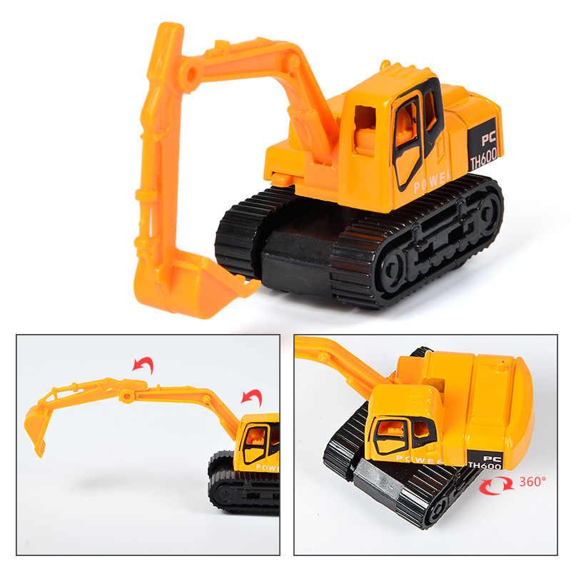 6 видов стилей/комплект мини литья под давлением сплава инженерных модель автомобиля игрушечные лошадки трактор свалка экскаватор классическ