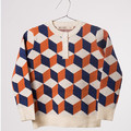 2016 autumn winter baby toddler boys girls geometry sweaters kids fashion jumpers wholesale