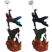 Marvel The Amazing Spider man 2 Colors Sideshow Spiderman Toy PVC Action Figures Collectible Model Doll Toys 29cm KT3662