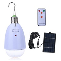 AC90 260V DC6V Rechargeable Indoor Lighting E27 Led Solar Lamp With Remote Control 12leds Outdoor Camping