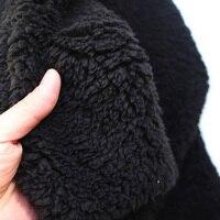 Черный шерпа руно овечьей Мех животных Ткань берберский флис плюшевые ткани свитер лайнер ткань подкладки продается Двор Бесплатная доста...