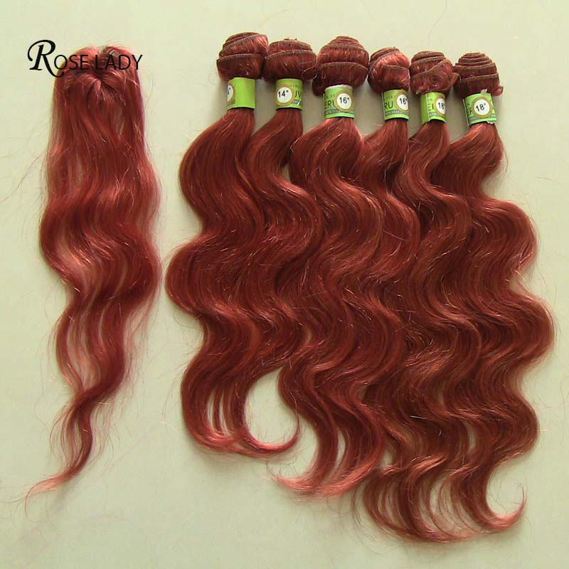 7a Ombre Peruvian Body Wave Hair T1b350 Hair Color 6pcs Weft With