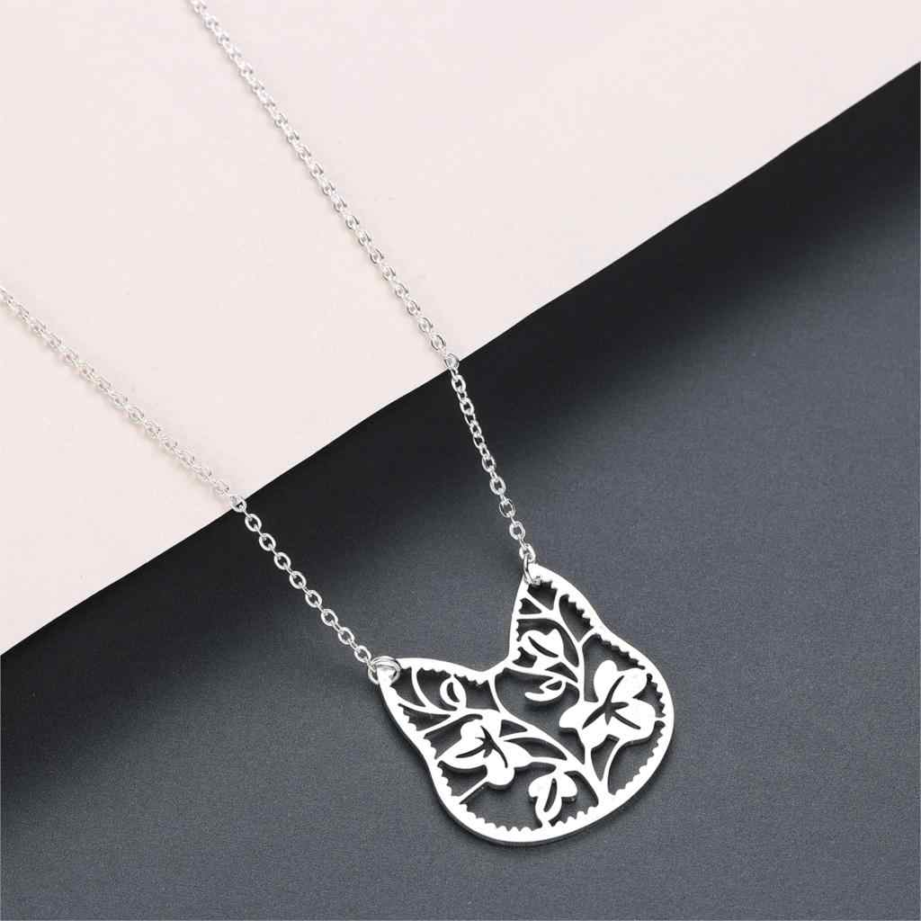 Lovely Cat Pendant Necklace For Women Silver Cute Love Animal Lion Brach Bird Phoenix Baby Girls Birthday Gift Fashion Necklaces